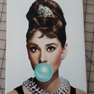 Audrey Hepburn Canvas wrapped print